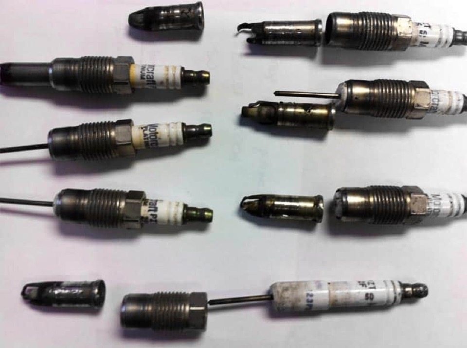 Spark plugs from Ford Triton Engines